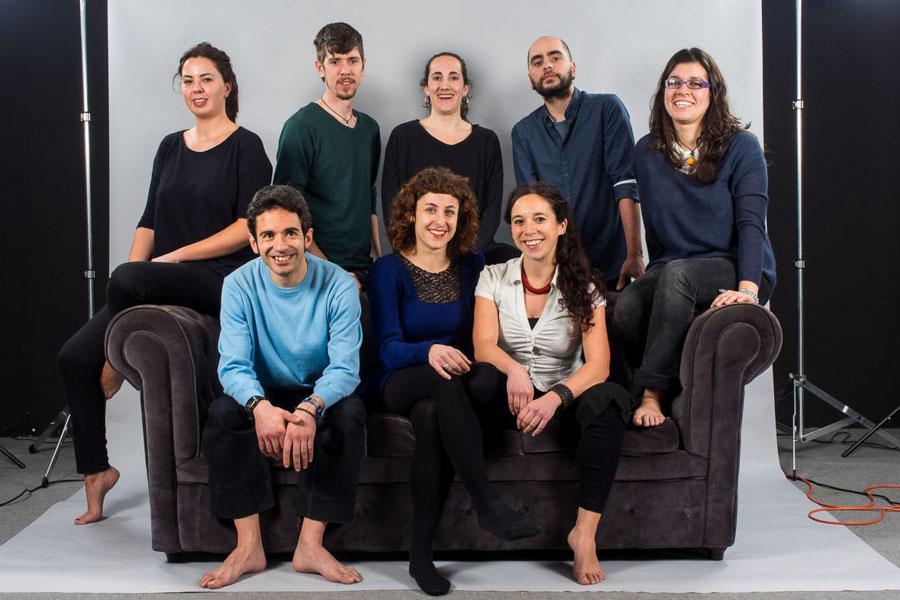 Colaboradores en uno de los proyectos de Mov3, que reúne a numerosas firmas de moda ecológica gallega    © Mov3