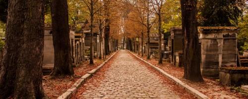 La soledad de un cementerio parisino