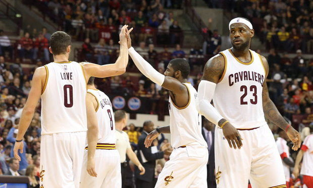 James, Love e Irving, el nuevo Big-Three de los Cavaliers (Foto: Cleveland.com).