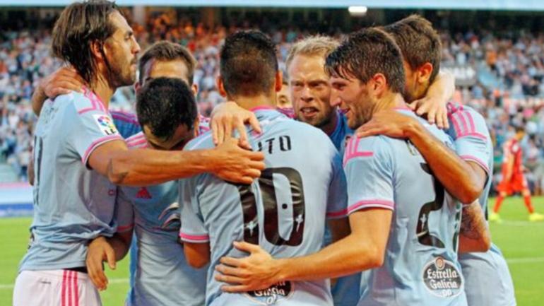 Os xogadores do Celta celebran un gol esta tempada - ©Marca