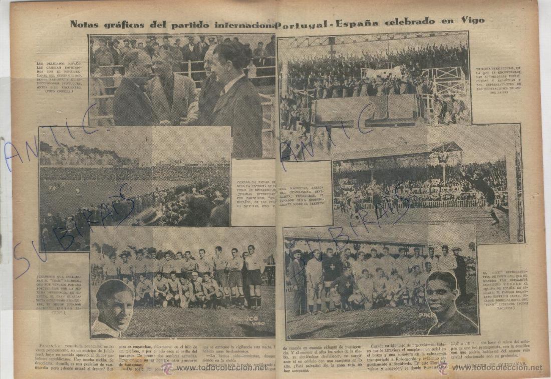 Así recogió la prensa de la época el amistoso España-Portugal del 37