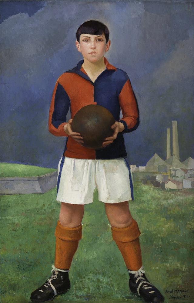 Joven-futbolista-1926-óleo-sobre-tela-colección-particular