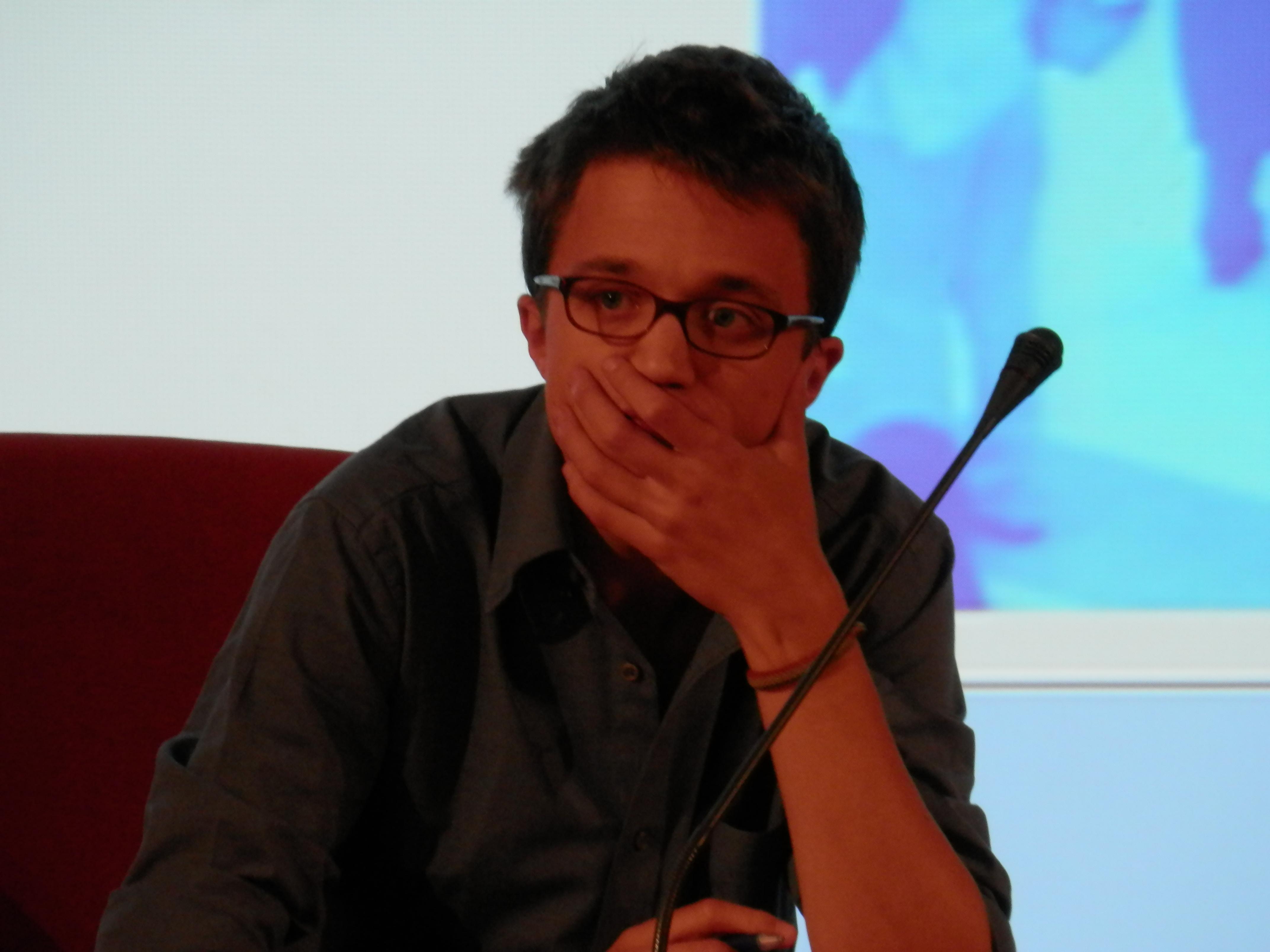 Errejón, en el salón de actos de la Facultad de Comunicación de la Universidad de Sevilla ©Mar Pino