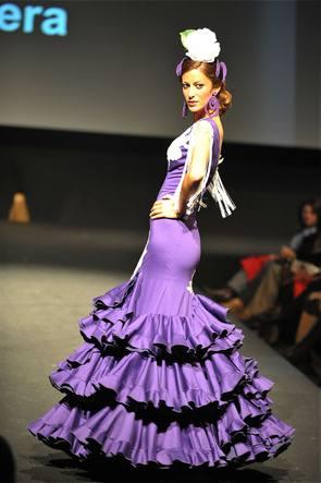 Diseño de Pilar Vera en la Pasarela Jeréz Flamenca 2009 |  © La Voz Digital