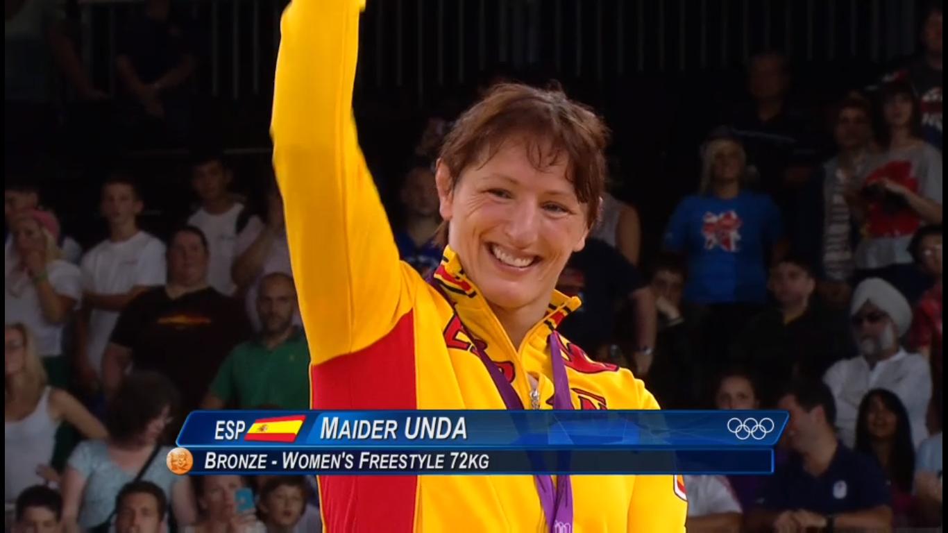 Maider Unda, medalla de bronce en Lucha Olímpica en Londres 2012, no puede ganarse la vida con el deporte | Fuente: TVE