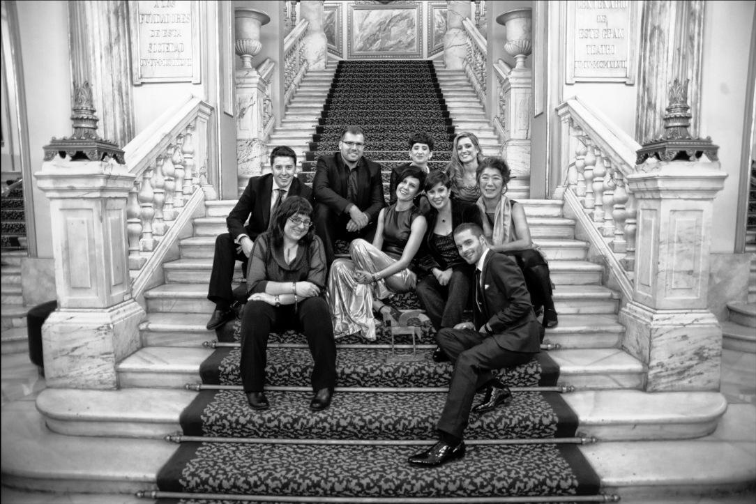 El equipo de El Extrarradio tras recibir el Premio Ondas a la Innovación Radiofónica en 2013 | Fuente: Penélope Sierra