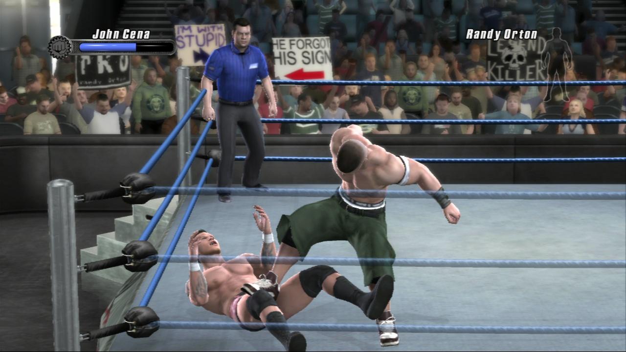 Imagen del juego Smackdown vs Raw 2008. Sacada de gamersperspective.com