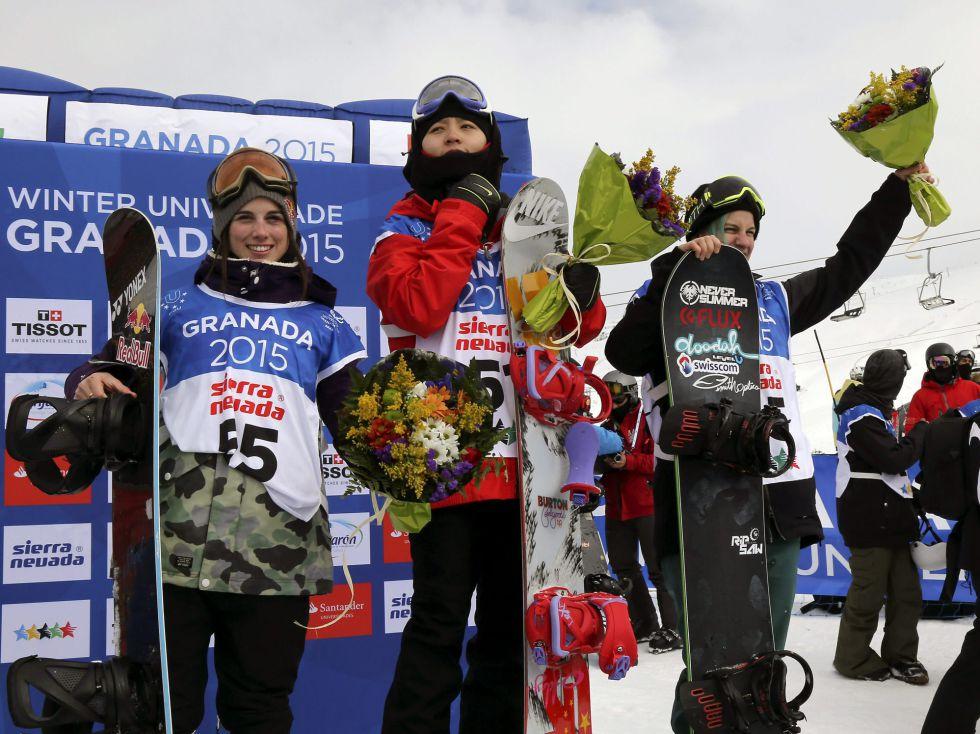Queralt Castellet, segunda en el podio de la Universiada   ©Pepe Torres