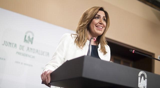 Susana Díaz, ayer y (finalmente) hoy, presidenta de la Junta de Andalucía | ©El País