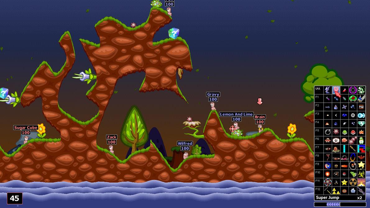 Así lucen  Worms en 2D. Imagen sacada de. http://xmedia.ex.ac.uk