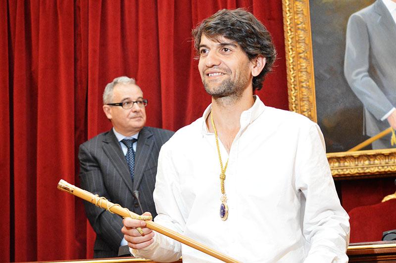 Jorge Suárez durante a súa investidura como alcalde de Ferrol | ©galiciaartabradigital.com