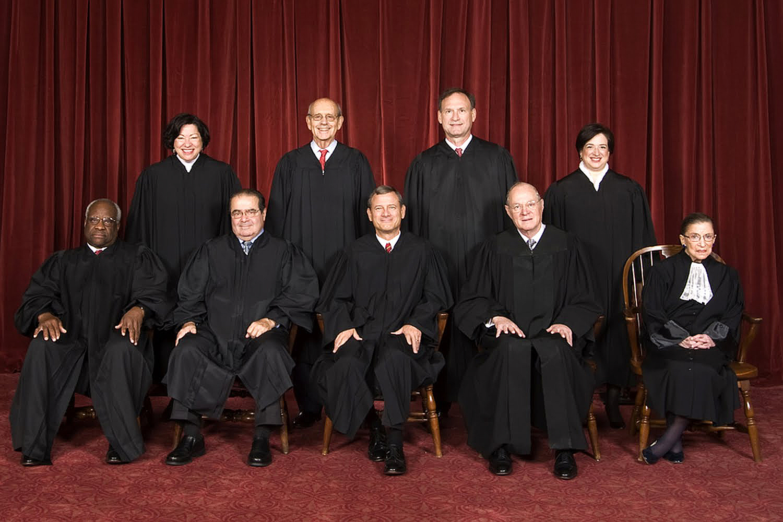 Los nueve jueces del Tribunal Supremo de EEUU, que el pasado viernes legalizó el matrimonio gay en todo el país | SCOTUS