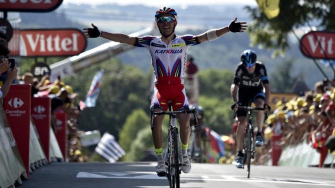 Purito fue el mejor en la primera llegada en alto, el Muro de Huy - ©Eurosport