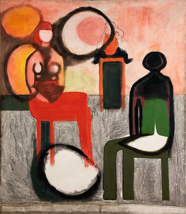 Andrzej Wróblewski,  Kompozycja. Rodzina, 1957 | http://culture.pl/en/gallery/selected-works-by-andrzej-wroblewski-image-gallery