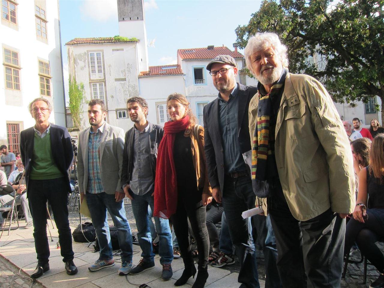 """A coalición encabezada por Anova, EU e Podemos preséntase coma unha """"Marea Galega polo cambio e a ruptura democrática""""   ©Europa Press."""