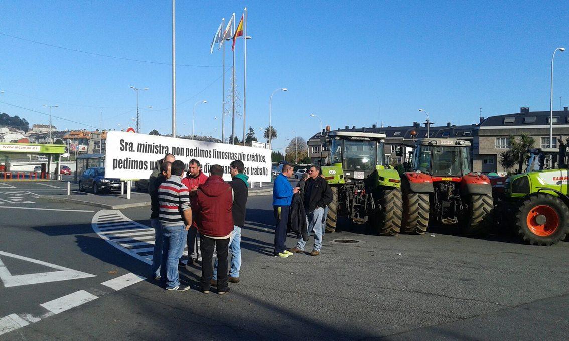 Tractorada Alcampo Coruña