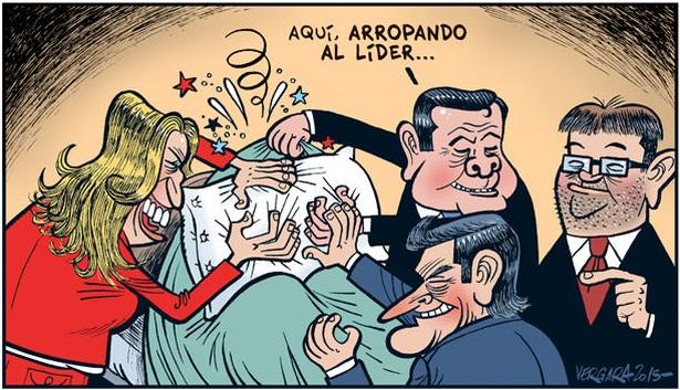 Mientras tanto, en el Comité Federal... |  © Malagón / eldiario.es