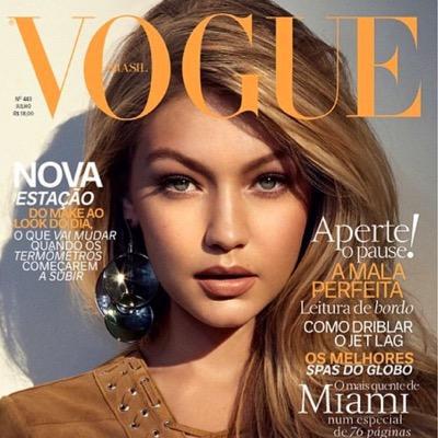 Hadid en la portada de Vogue