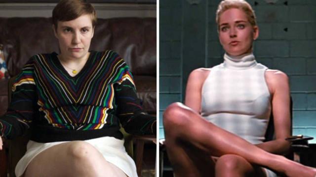Alusión de Lena Dunham en Girls a Sharon Stone en Instinto Básico | Eluniversal.com