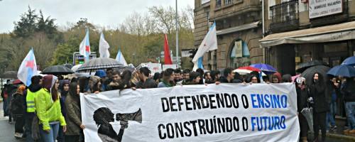Nas rúas contra a LOMCE: folga estudantil