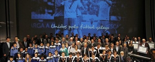 Festa do fútbol galego en Compostela