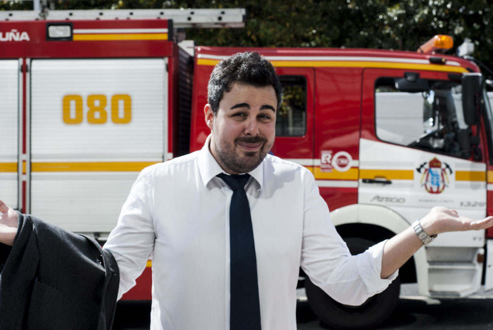 Iago González con cara de circunstancias | ©Sabela Porto