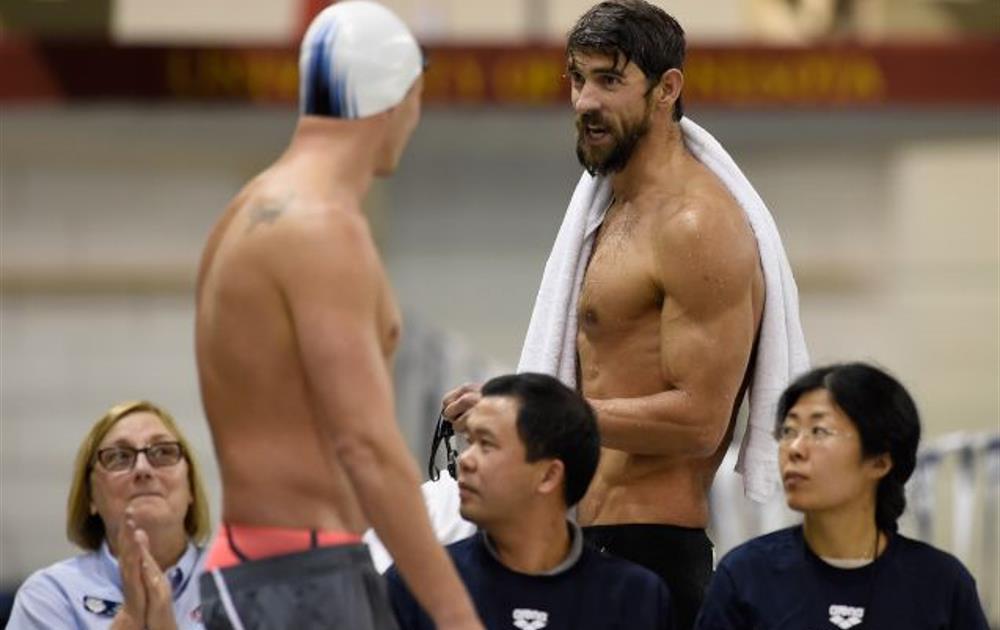 Michael Phelps junto Ryan Lochte en una competición a finales de 2005 | via rio2016.com