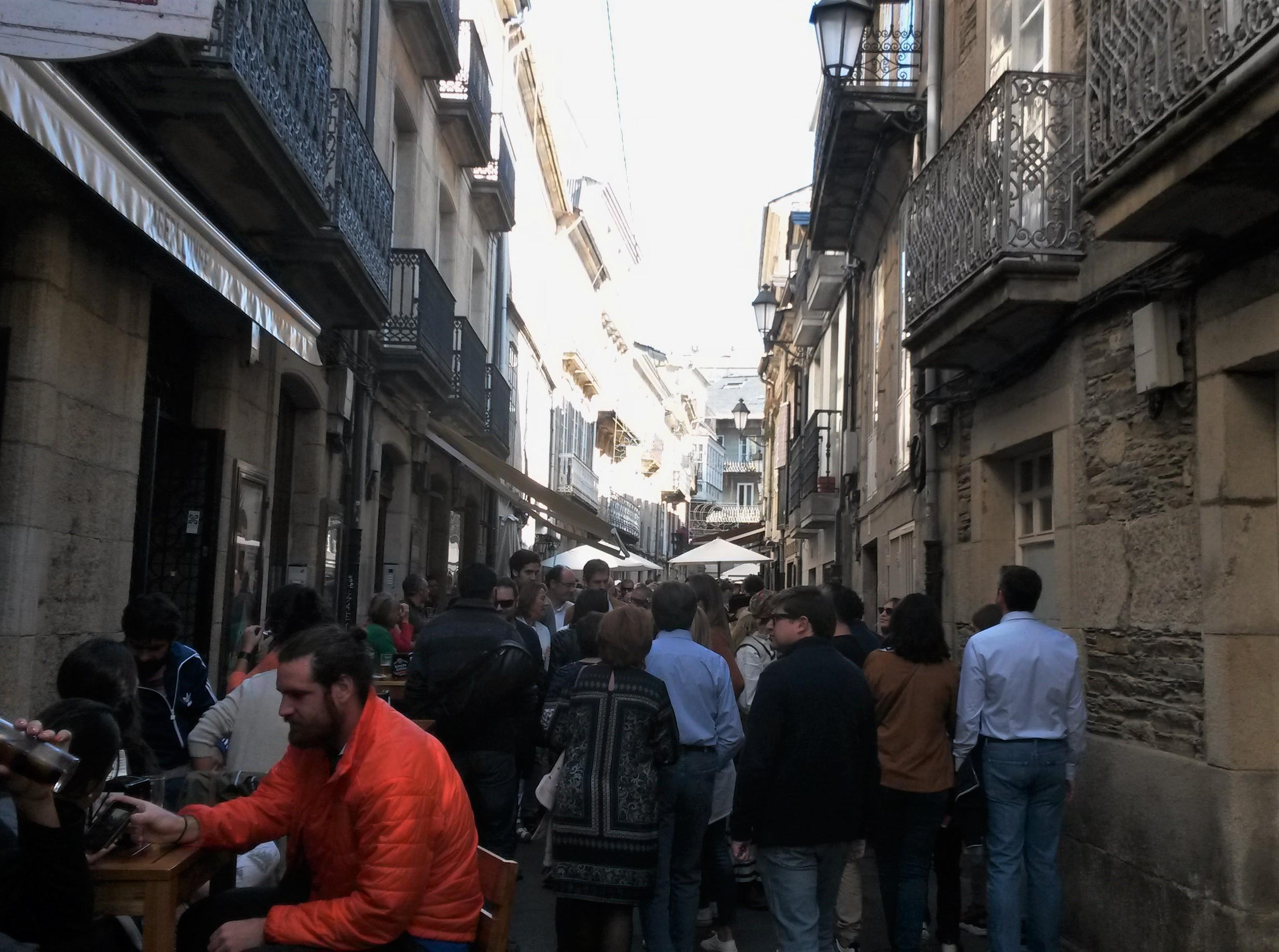 El centro de la ciudad es un referente gastronómico en Galicia |©Paula Martínez Graña