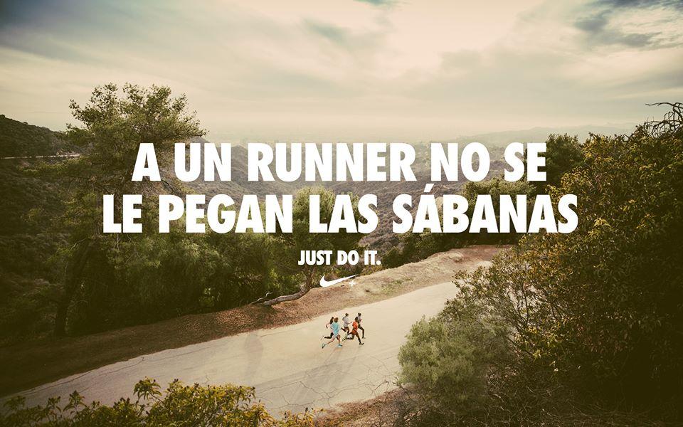Típica fotografía tonta que mitifica la práctica del running. | ©Pinterest