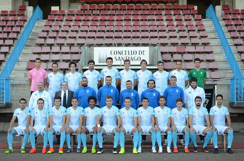 Plantilla de la SD Compostela en la temporada 2016/17  © SD Compostela