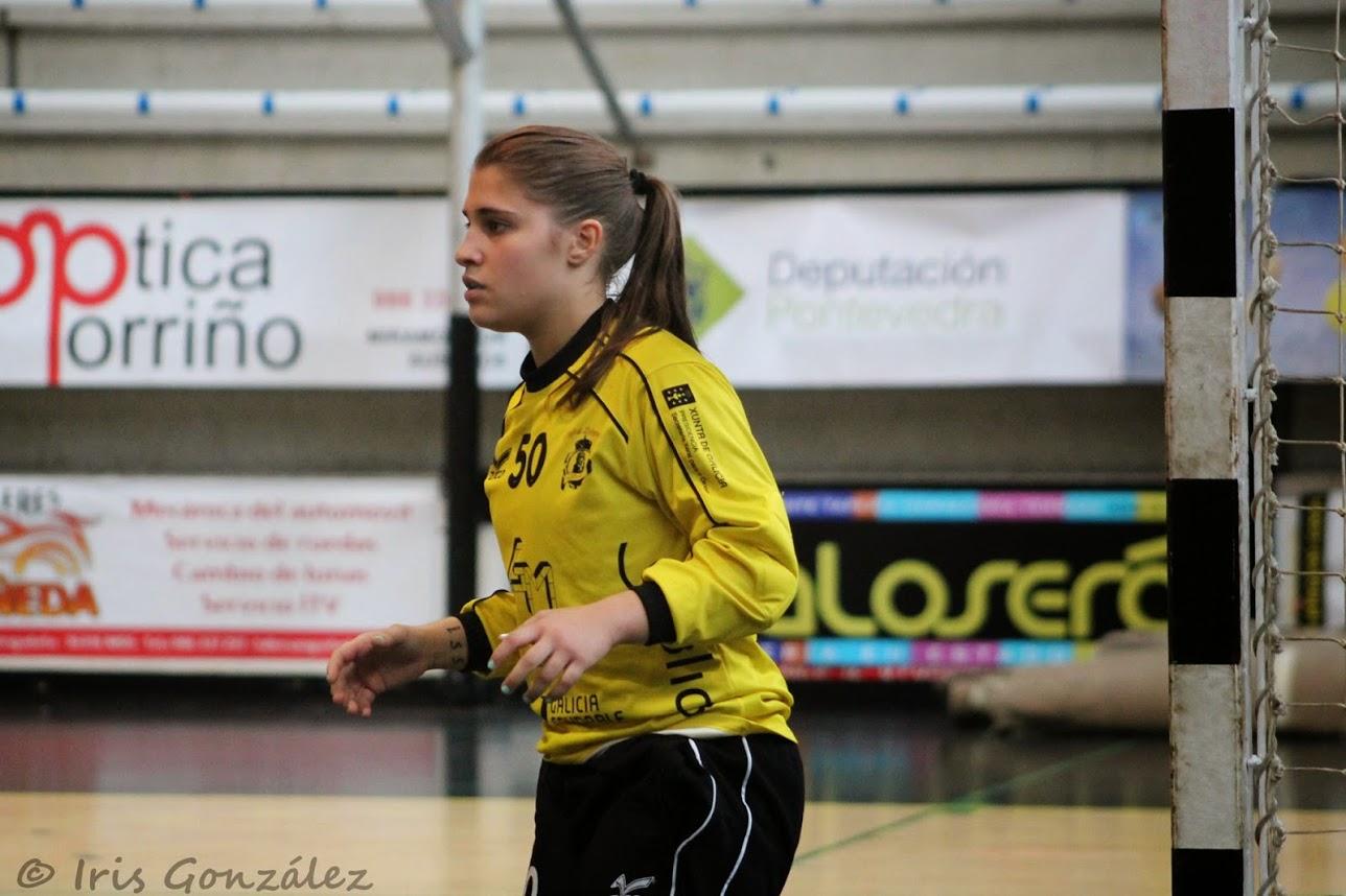 Iris Sanjuan vivió el ascenso deportivo del BM Porriño | ©BM Porriño.