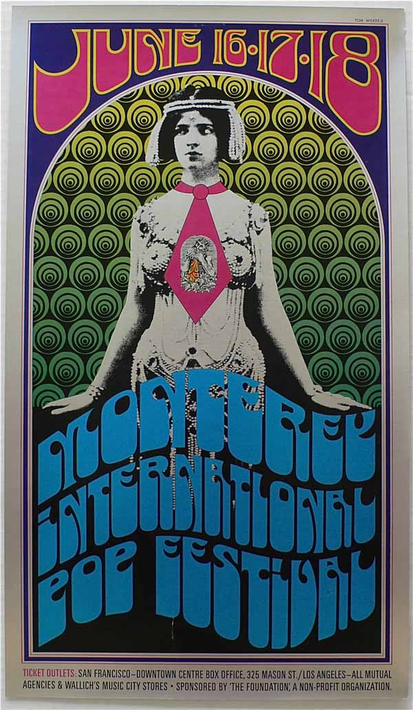 Cartel publicitario del Monterey Pop Music Festival 1967
